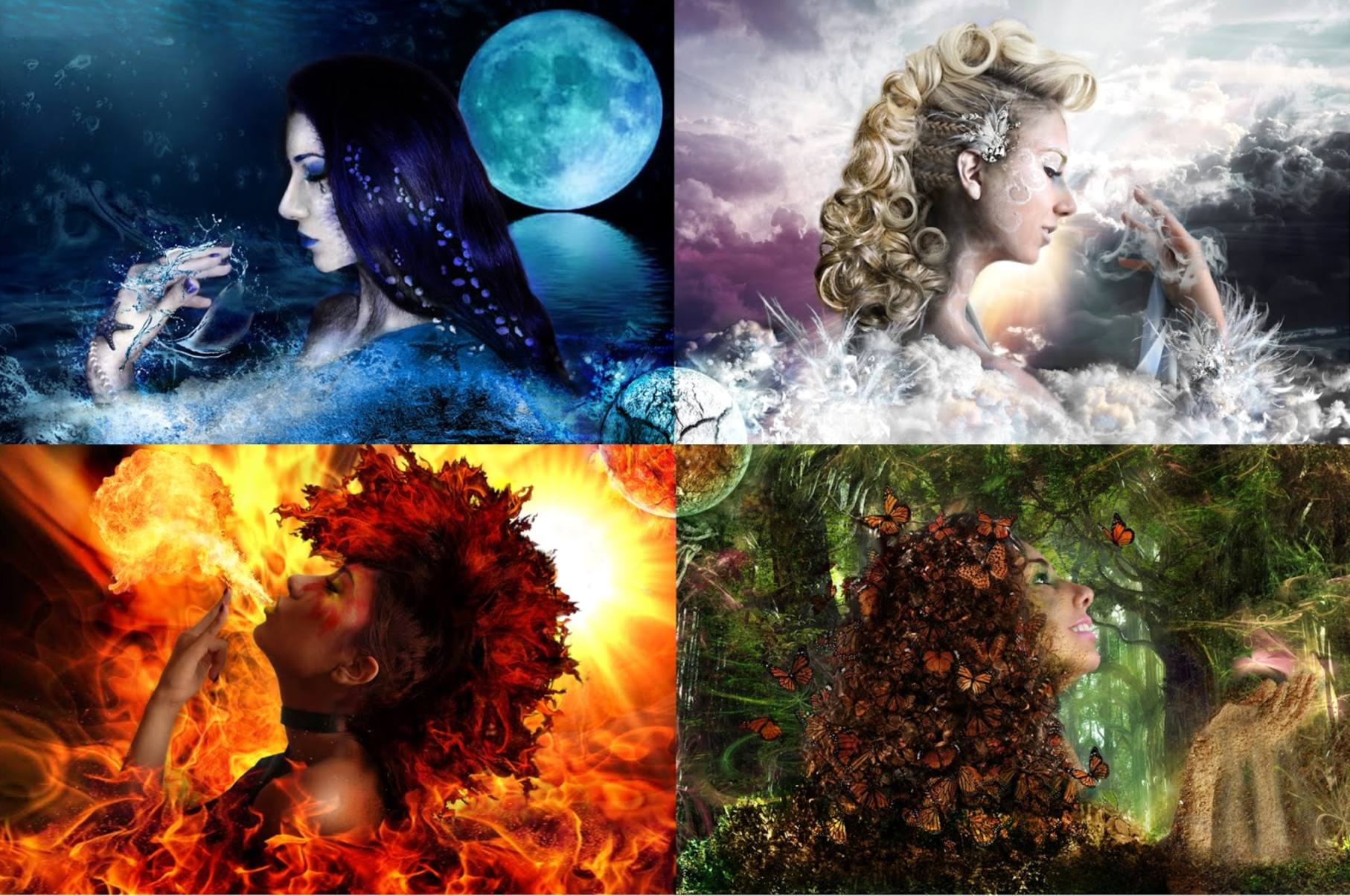 Огонь земля вода воздух картинки стихий
