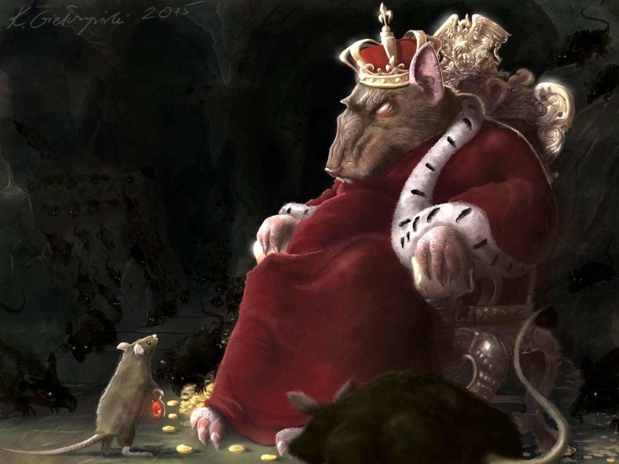 картинка крысиного короля переодевается платье