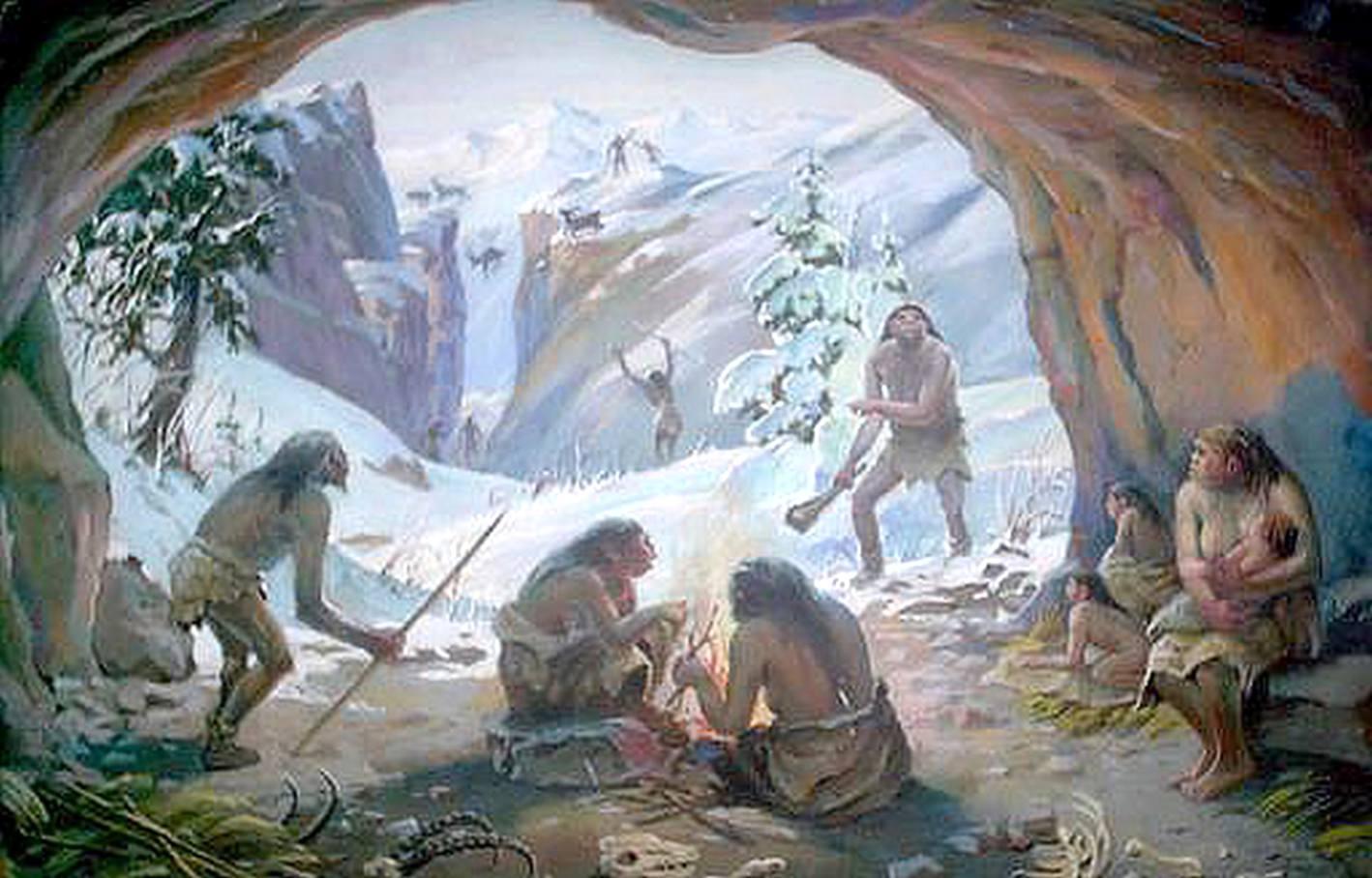 пещера первобытного человека фото