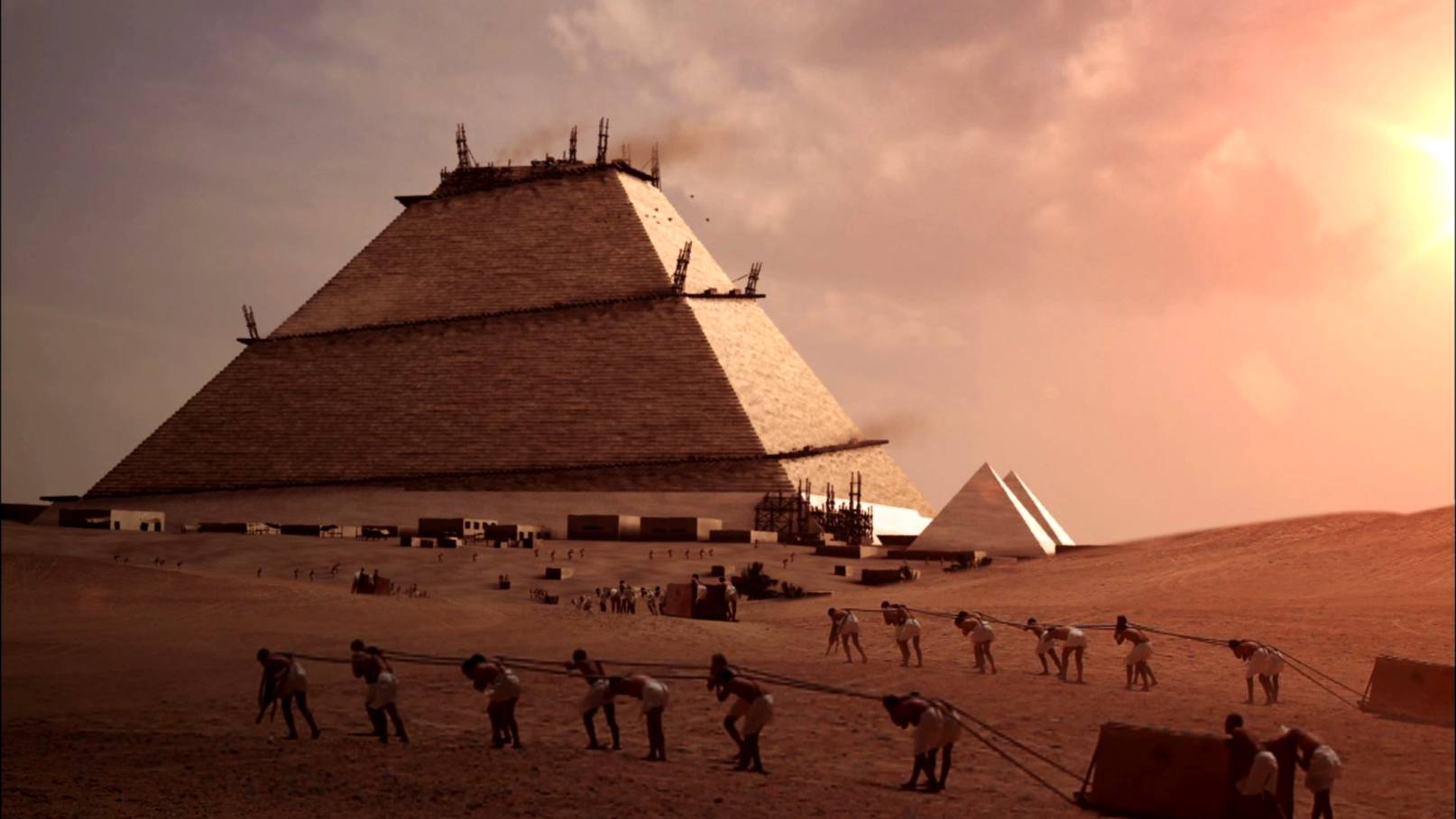 Картинки строительства пирамиды