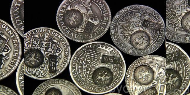 Серебряные деньги царя Алексея Михайловича