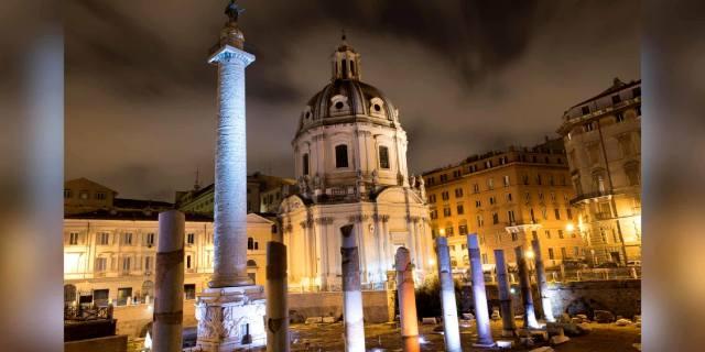 Колонна императора Траяна в Древнем Риме