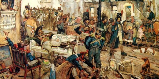 Разграбление Московского университета французами