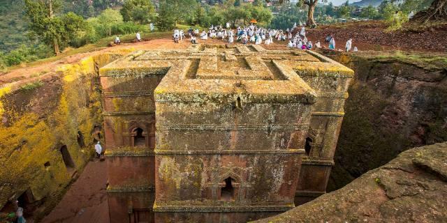 Лалибела (Эфиопия), достопримечательности - храм в яме