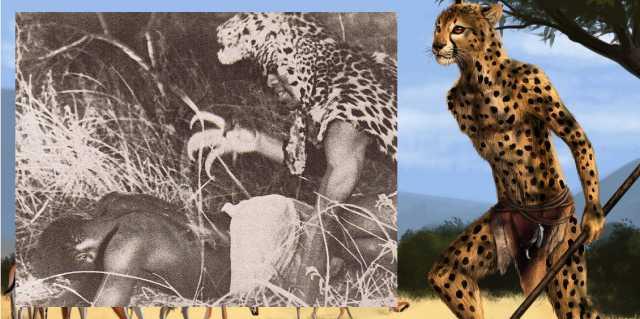 Культ людей-леопардов в Западной Африке