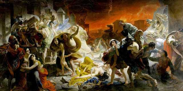 Кто изображён картине Последний день Помпеи Карла Брюллова
