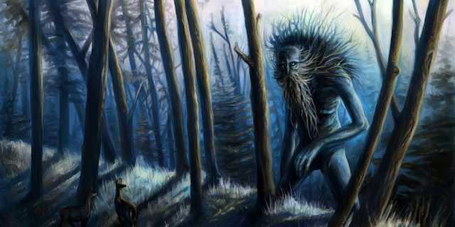 Встреча с нечистой силой в лесу