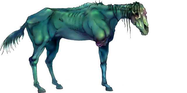 Лошадь Хель из мира мёртвых