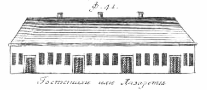 Фото: реальная застройка Петербурга в конце 1724 года