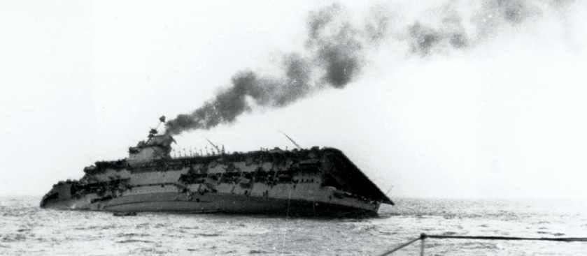 Атака германской подлодки U-29 на авианосец Корейджес