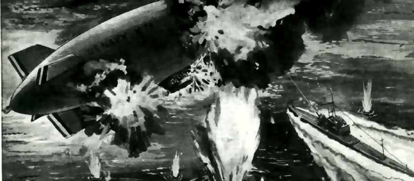 Атака дирижабля К-74 США против немецкой подлодки U-134