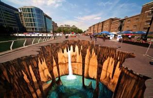 Фото: 3D-рисунки на асфальте, интересные факты