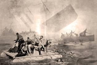 Фото: гибель корабля Ла Бургонь, интересные факты