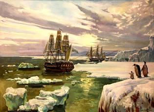 Фото: открытие Антарктиды русскими моряками кратко