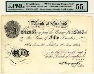 Фото: фальшивые деньги Третьего рейха, интересные факты