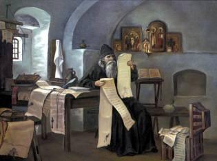 Фото: игумен Авраамий и прошение Петру I