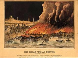 Фото: Великий пожар в Бостоне — интересные факты