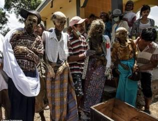 Фото: жуткие похоронные ритуалы, интересные факты