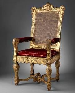 Фото: кресло Людовика XIV — интересные факты