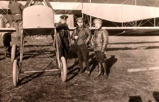 Фото: лётчики Первой мировой войны