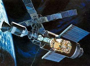 Фото: орбитальная станция Скайлэб, интересные факты