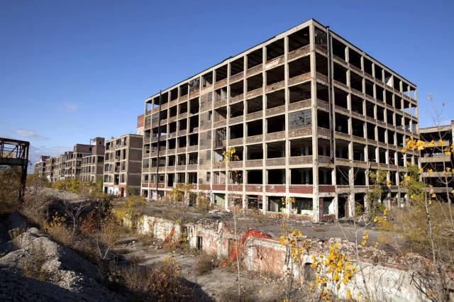 Фото: город-призрак Детройт — интересные факты