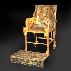 Фото: трон Тутанхамона, интересные факты