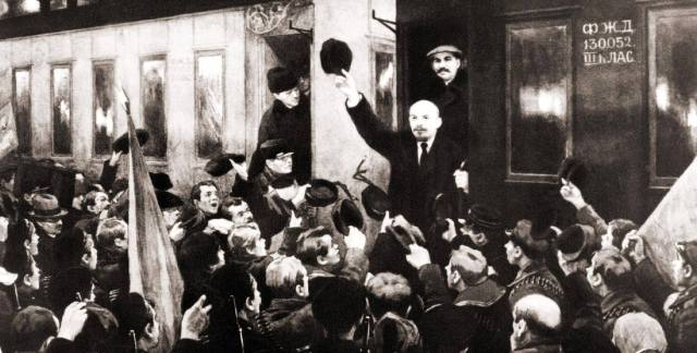 Фото: пломбированный вагон Ленина