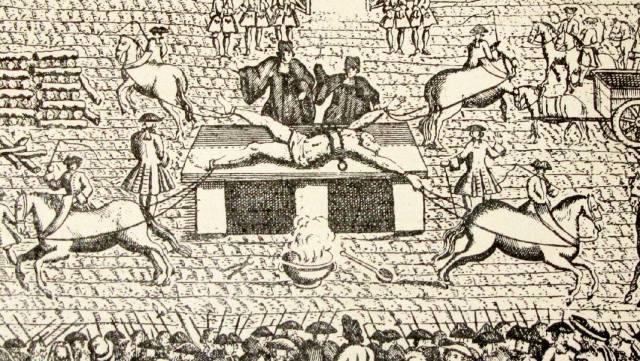 Робер-Франсуа Дамьен: Казнь четвертованием за покушение на короля