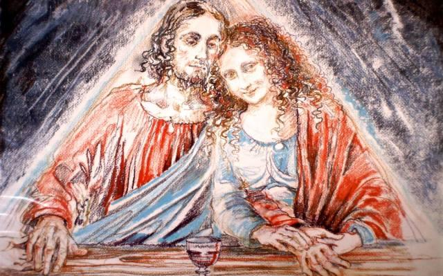Иисус Христос, жена его Мария Магдалина и их дети
