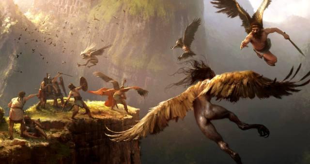Стимфалийские птицы и гарпии