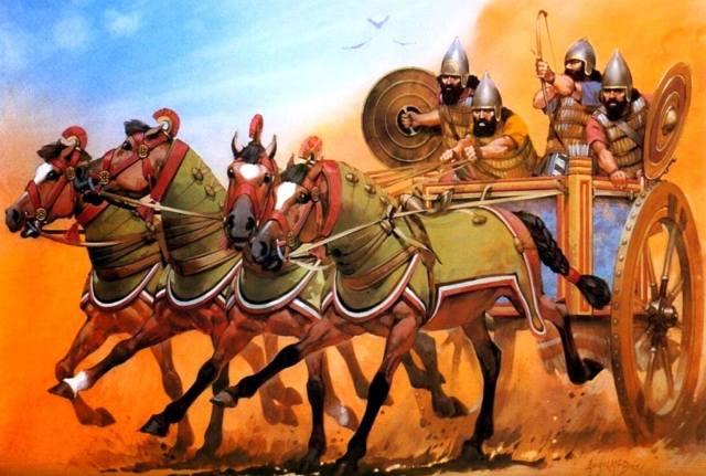 Боевые колесницы древности