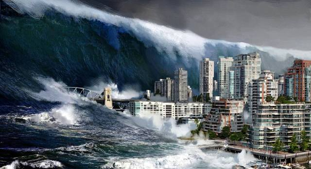 Цунами: гигантские волны с моря