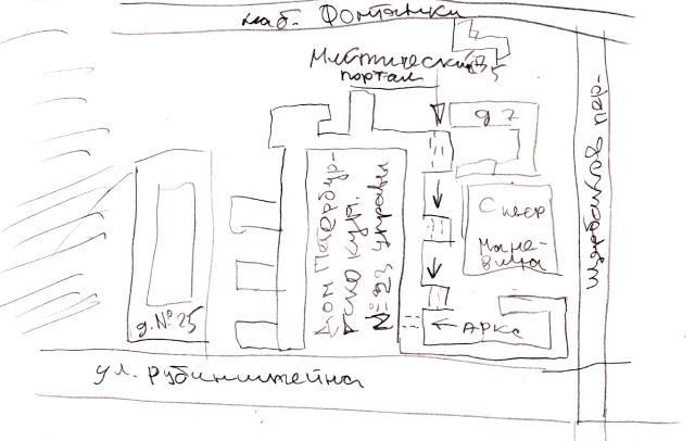 Как найти Мистический портал на Рубинштейна, карта