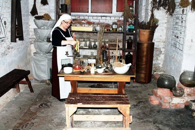 Лаборатория алхимика в подземелье