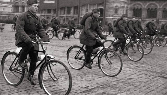 Использование велосипеда в армии