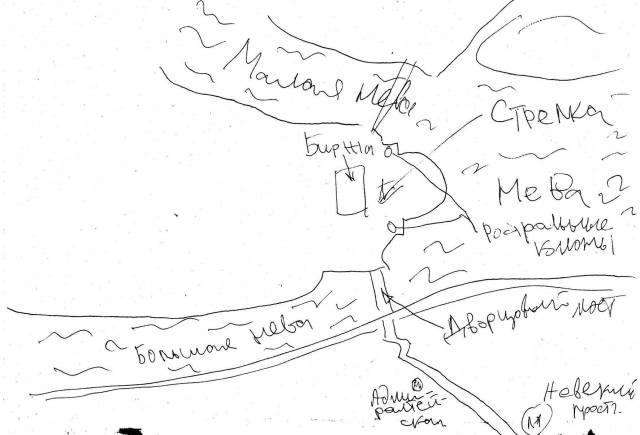 Стрелка Васильевского острова на карте