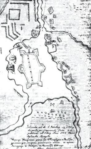 План Петербурга 1706 г. (сентябрь)