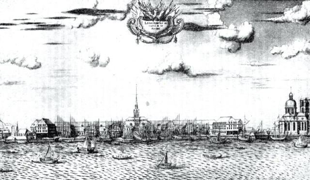 Набережная левого берега Невы и Адмиралтейство