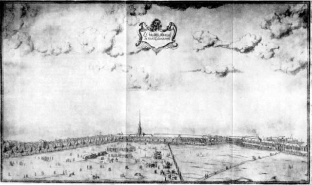 Морской рынок у Адмиралтейства. Рисунок X. Марселиуса