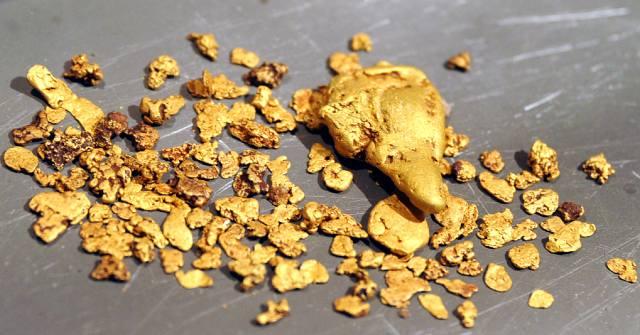Необычные крупинки самородного золота