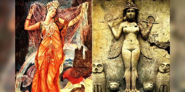 Инанна богиня Месопотамии: Как её изображали?