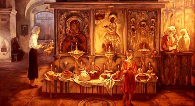 Святая ночь перед праздником Пасхи