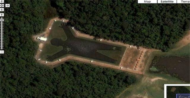 Необычные объекты на спутниковых снимках