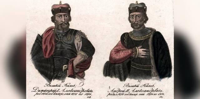 Сыновья Александра Невского Андрей и Дмитрий
