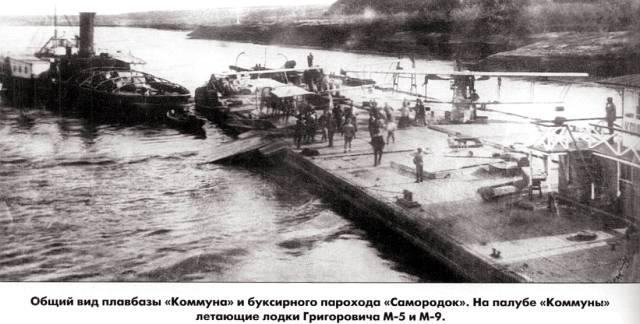 Самолёты на волжских кораблях в Гражданскую войну