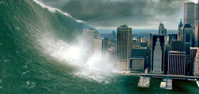 Гигантские волны цунами
