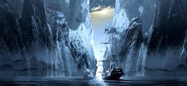 Корабль-призрак Октавиус с замёрзшей командой
