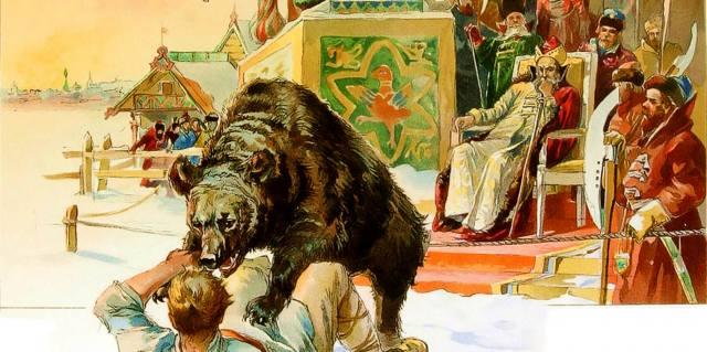 Медвежья потеха на Руси