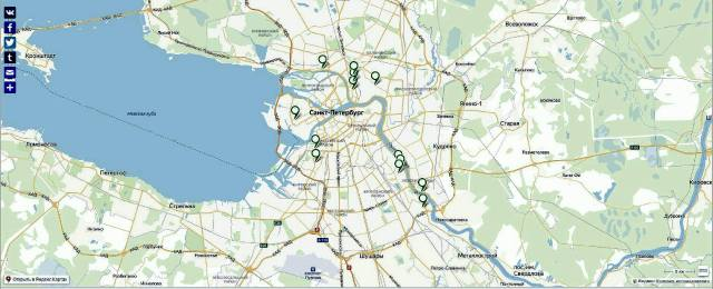 Карта рабочих кварталов Петербурга